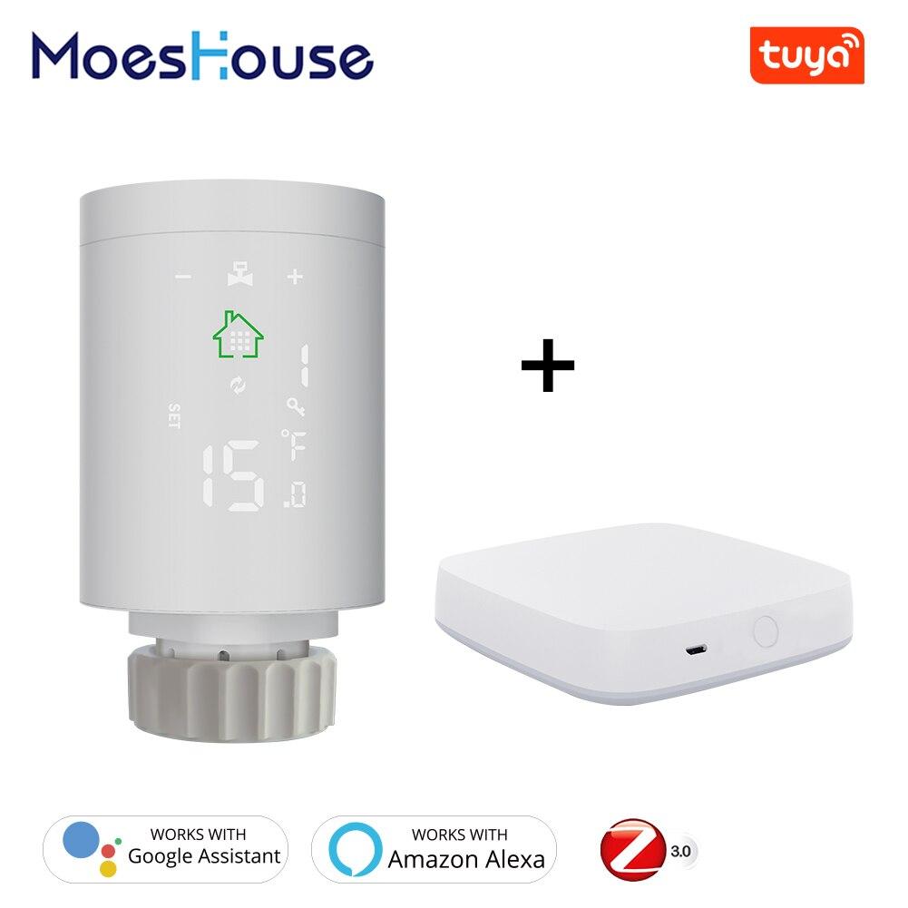 Tuya ZigBee3.0 Smart Radiator Actuator Programmable Thermostatic Radiator Valve Temperature Controller 2MQTT Setup With Alexa